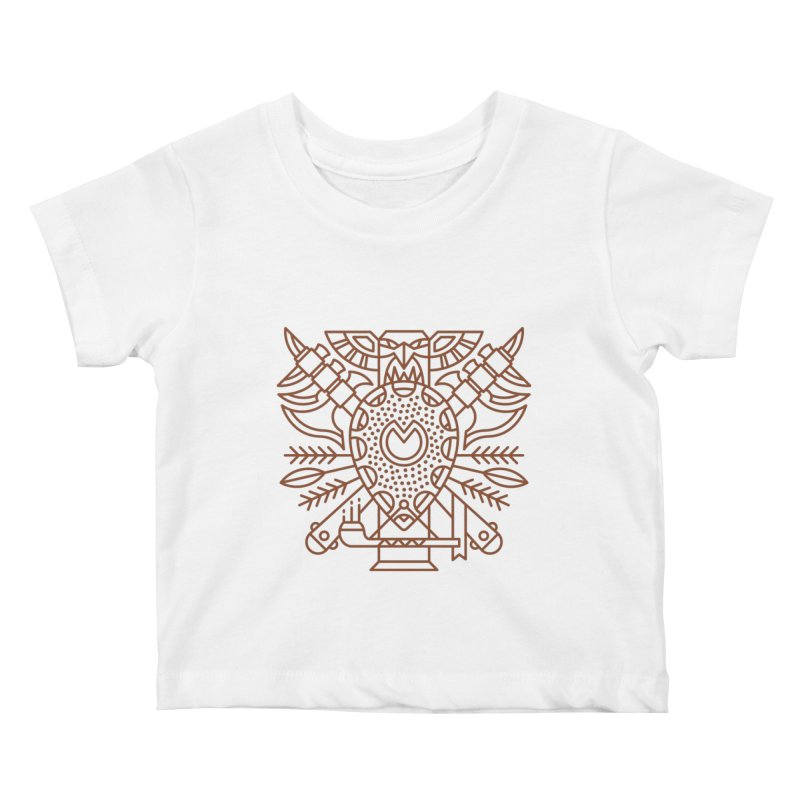 Tauren - World of Warcraft Crest Kids Baby T-Shirt by dcmjs