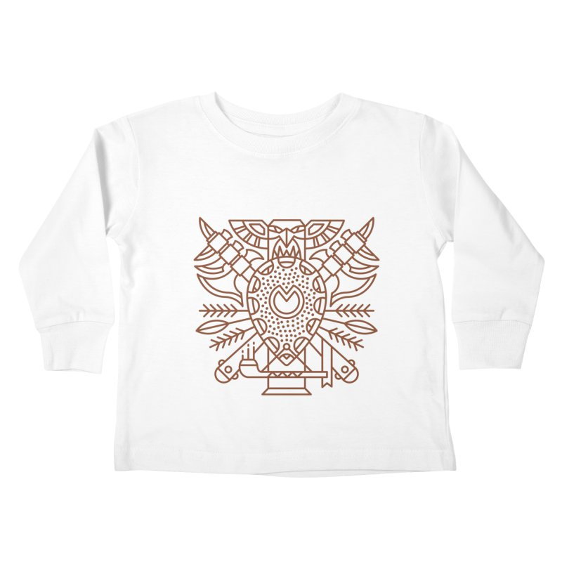 Tauren - World of Warcraft Crest Kids Toddler Longsleeve T-Shirt by dcmjs