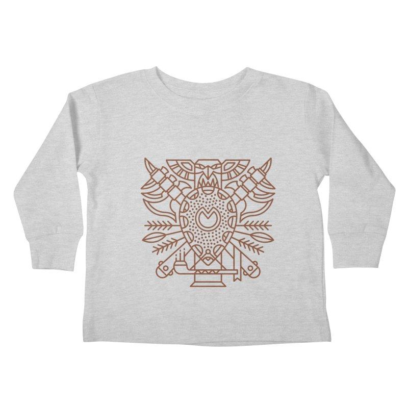 Tauren - World of Warcraft Crest Kids Toddler Longsleeve T-Shirt by dcmjs