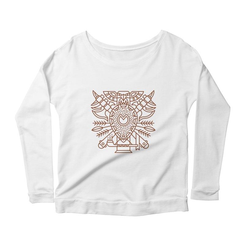 Tauren - World of Warcraft Crest Women's Scoop Neck Longsleeve T-Shirt by dcmjs