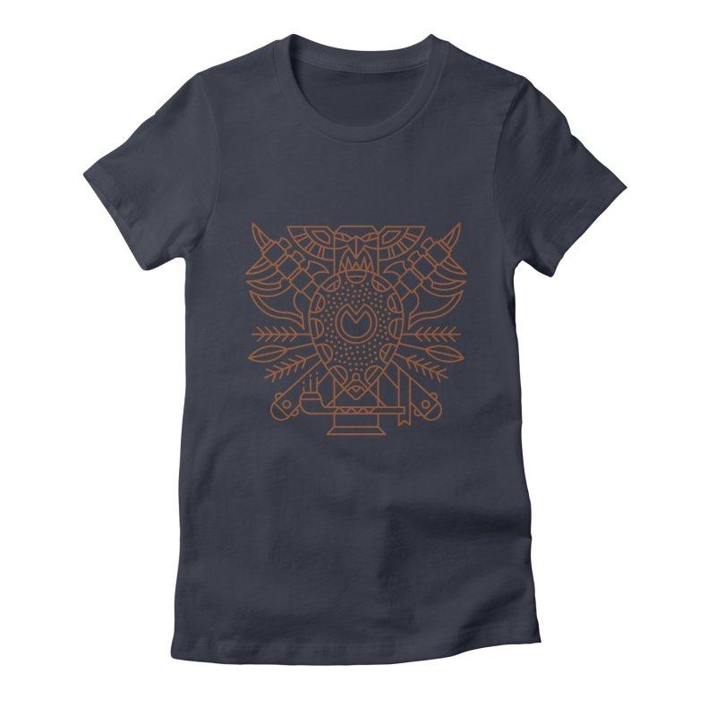Tauren - World of Warcraft Crest Women's Fitted T-Shirt by dcmjs