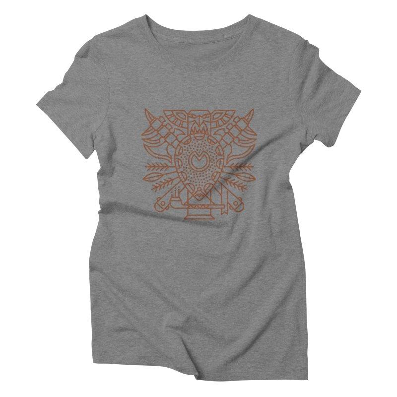 Tauren - World of Warcraft Crest Women's Triblend T-Shirt by dcmjs
