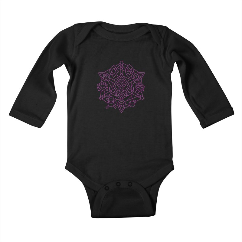 Troll - World of Warcraft Crest Kids Baby Longsleeve Bodysuit by dcmjs