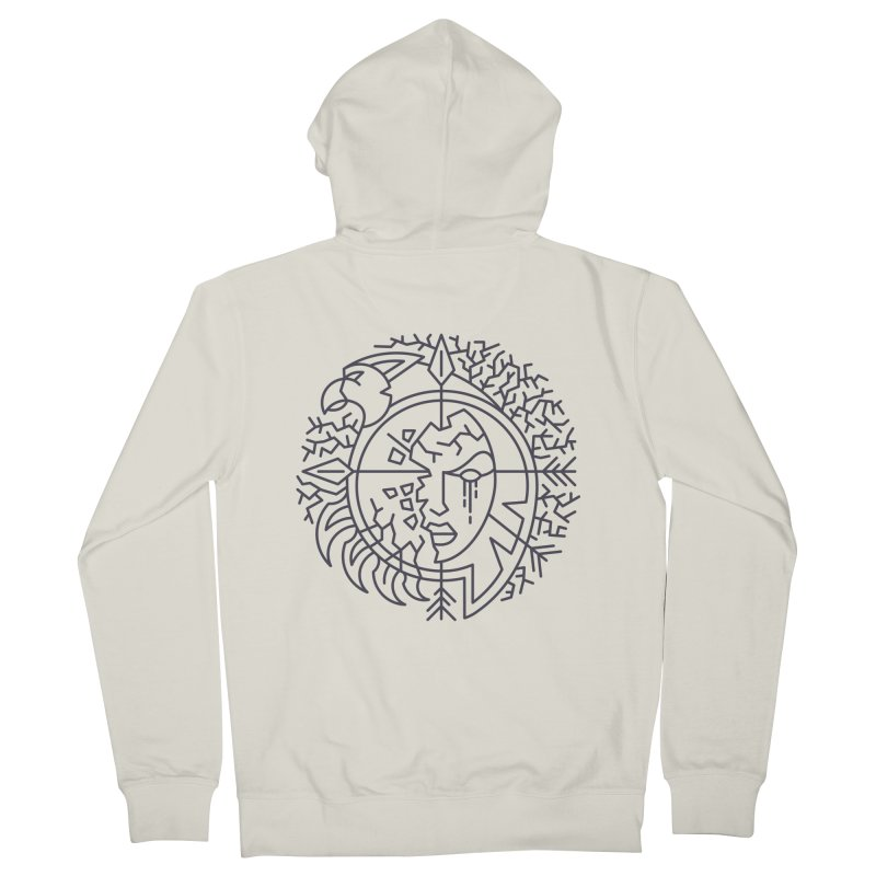 Undead - World of Warcraft Crest Men's French Terry Zip-Up Hoody by dcmjs