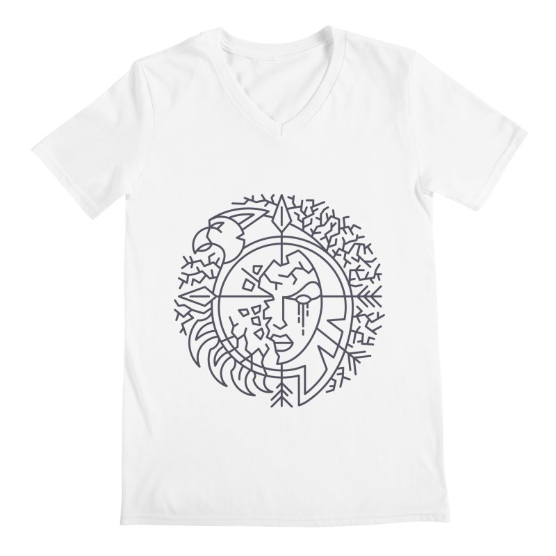 Undead - World of Warcraft Crest Men's V-Neck by dcmjs