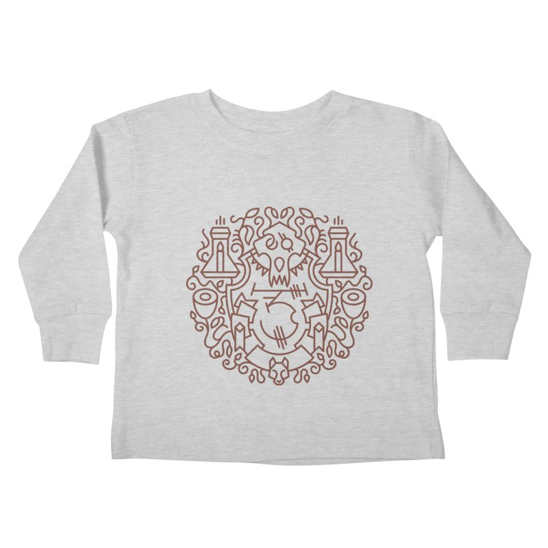 Worgen - World of Warcraft Crest Kids Toddler Longsleeve T-Shirt by dcmjs