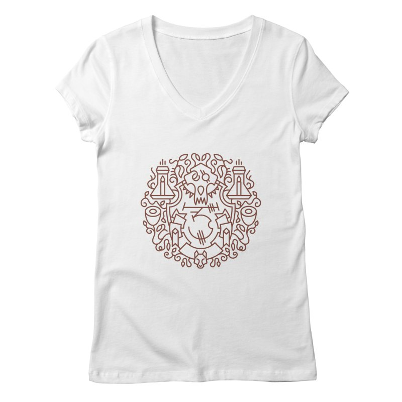 Worgen - World of Warcraft Crest Women's Regular V-Neck by dcmjs