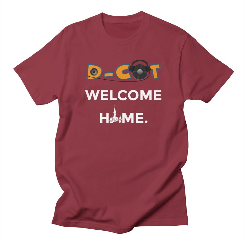 Welcome Home in Men's Regular T-Shirt Scarlet Red by The D-CoT Shop
