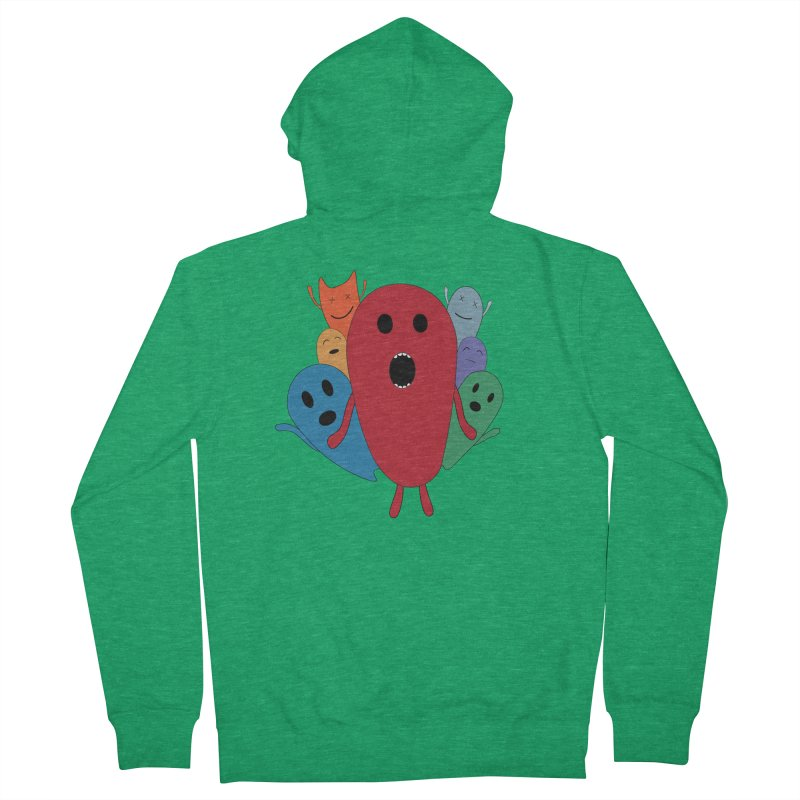 MY CHRISTMAS MONSTERS WINTER '08 HOODIE EDITION Men's Zip-Up Hoody by D.design