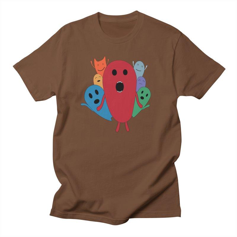MY CHRISTMAS MONSTERS WINTER '08 HOODIE EDITION Men's Regular T-Shirt by D.design