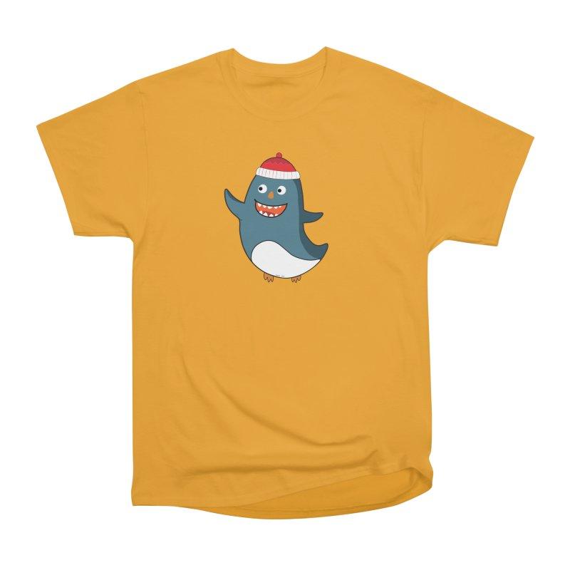 Wait me I'm pinguine Winter '08 Edition Men's Heavyweight T-Shirt by D.design