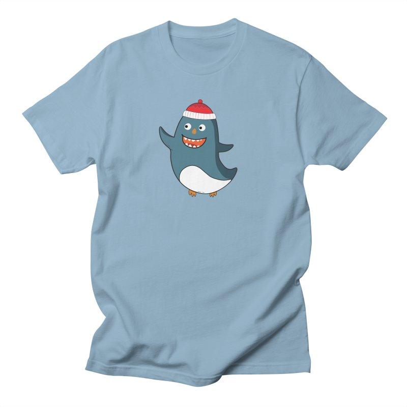 Wait me I'm pinguine Winter '08 Edition Men's Regular T-Shirt by D.design