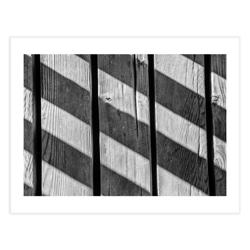 Boardwalk Shadows Home Fine Art Print by ddesigns by ddespair