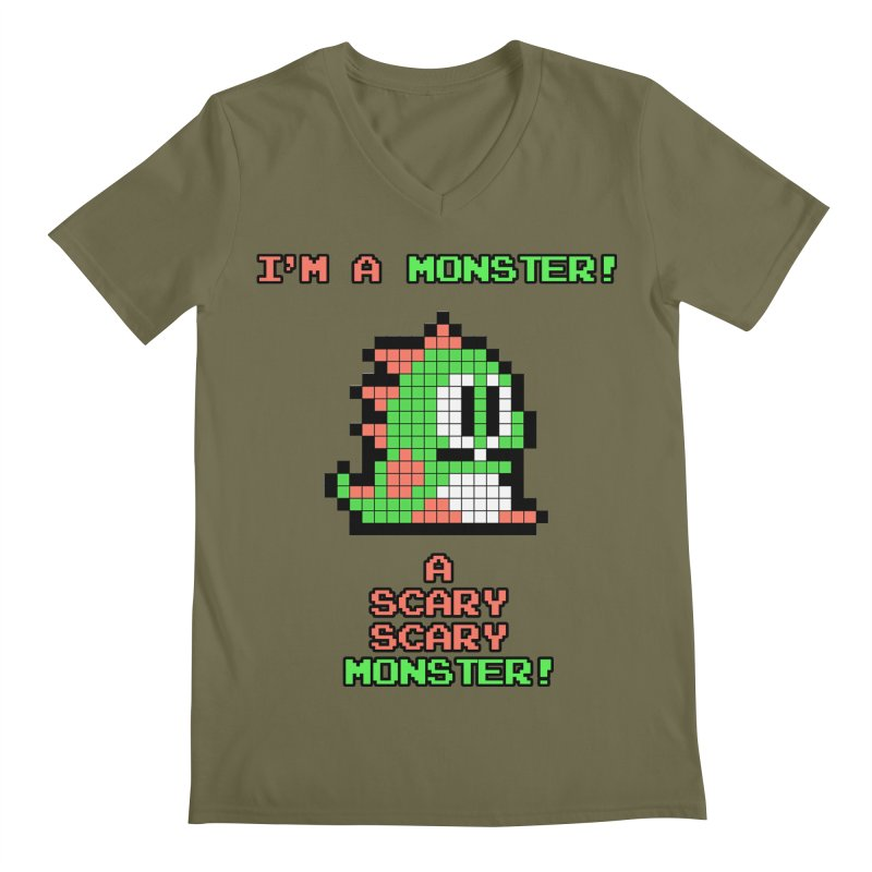 Bubble Bobble Men's V-Neck by ddesigns by ddespair