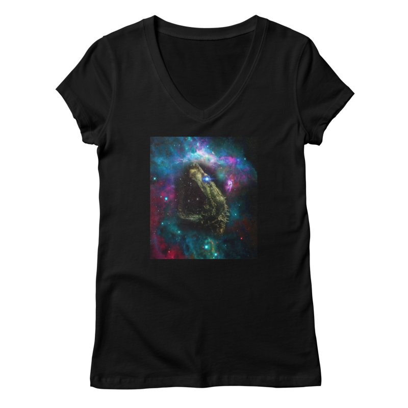 Devour the Stars Women's V-Neck by ddesigns by ddespair