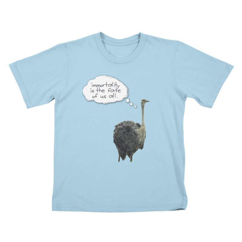 birdbrain Kids T-Shirt by ddesigns by ddespair
