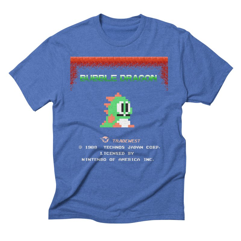Bubble Dragon Men's Triblend T-shirt by ddesigns by ddespair