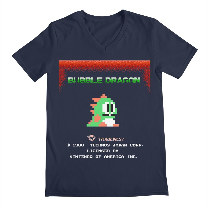 Bubble Dragon Men's V-Neck by ddesigns by ddespair