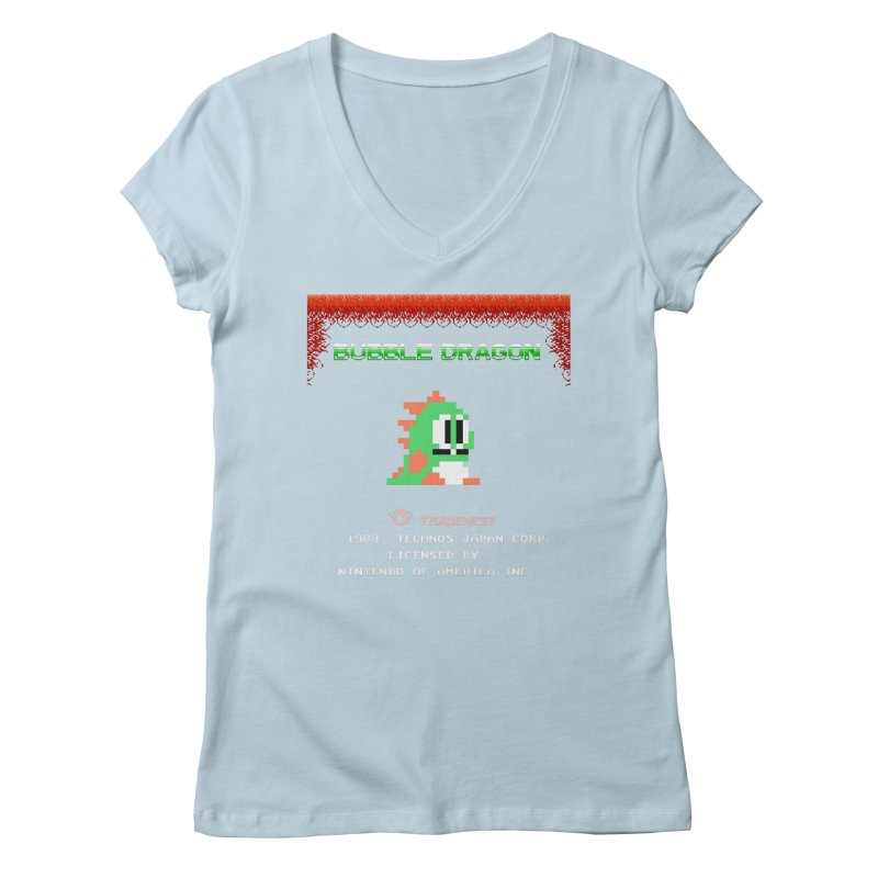 Bubble Dragon Women's V-Neck by ddesigns by ddespair