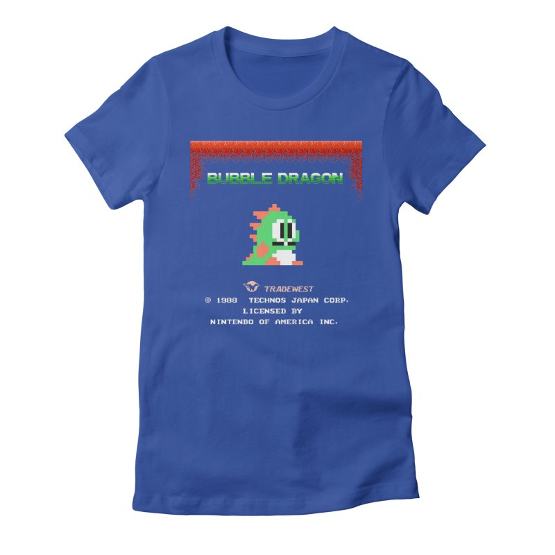 Bubble Dragon Women's Fitted T-Shirt by ddesigns by ddespair
