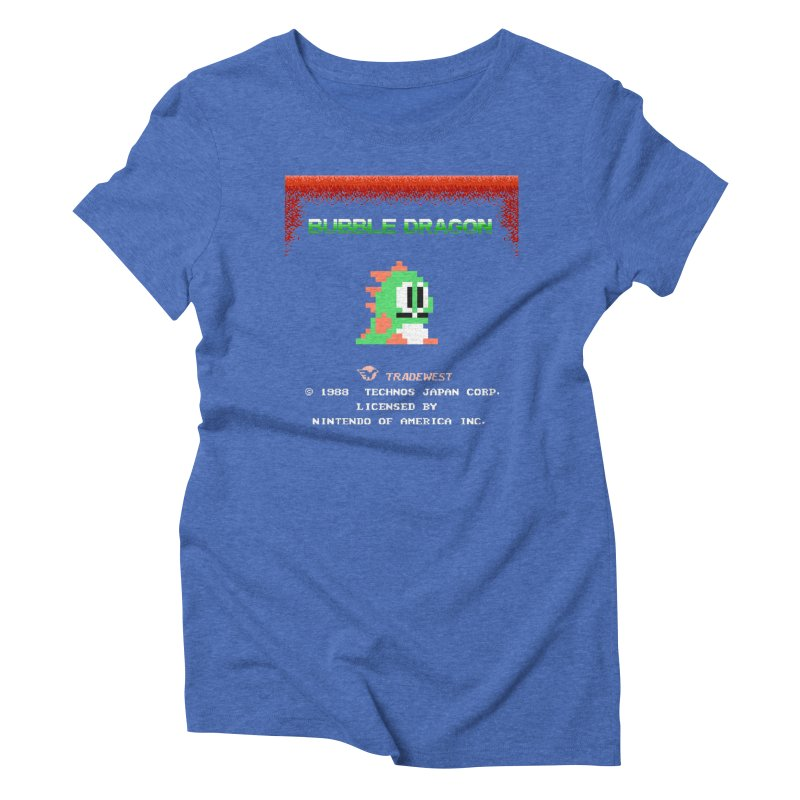 Bubble Dragon Women's Triblend T-shirt by ddesigns by ddespair
