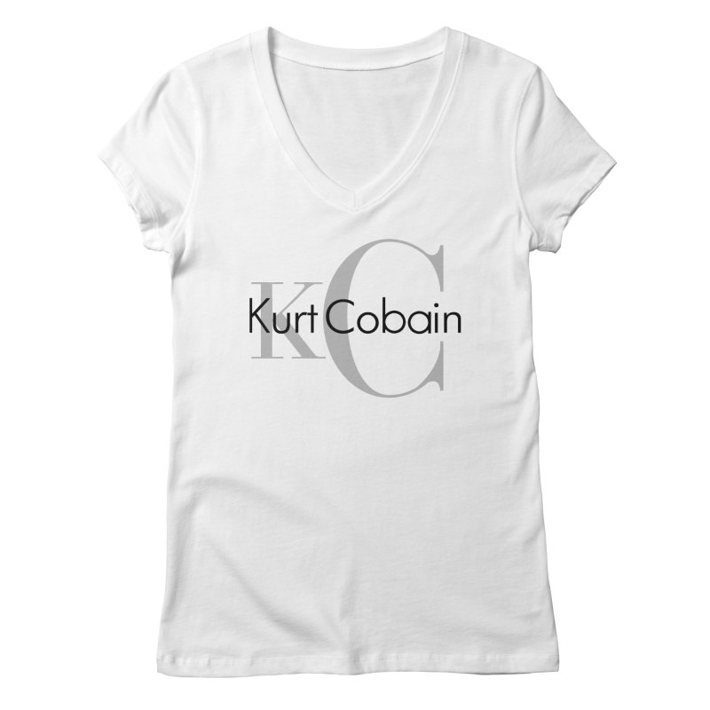 Kurt Cobain Tribute Women's V-Neck by ddesigns by ddespair