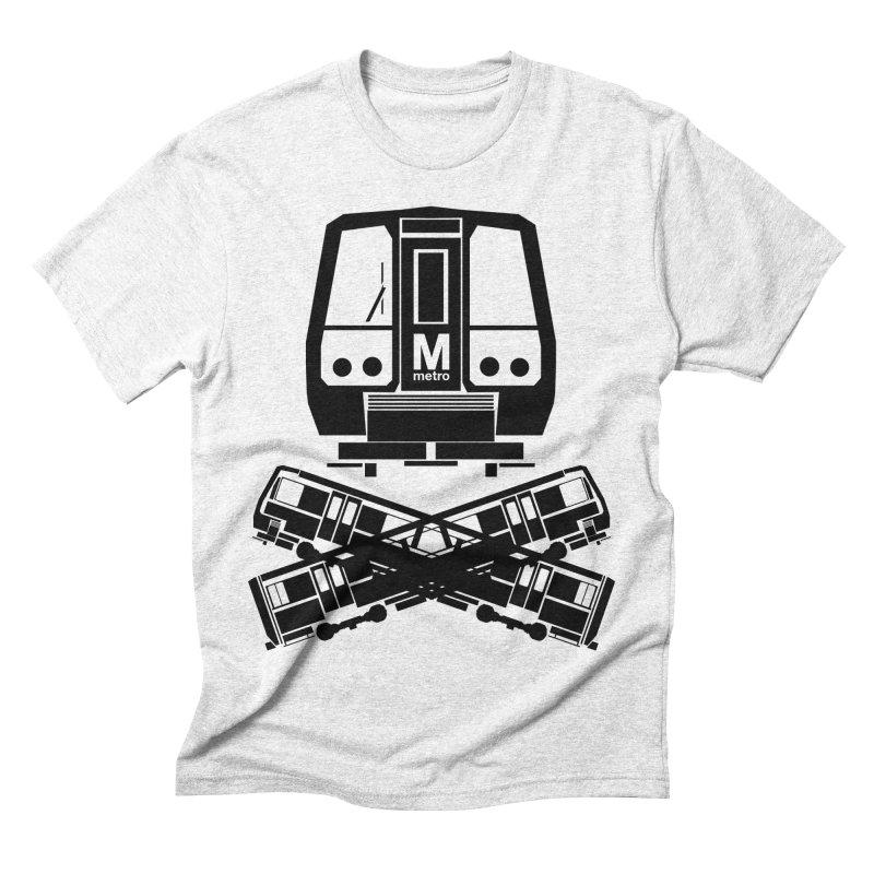 METRO Crossbones Men's Triblend T-shirt by ddesigns by ddespair
