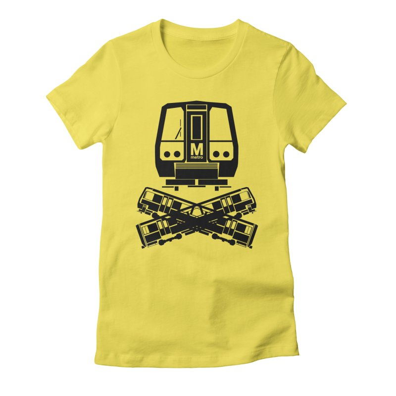 METRO Crossbones Women's Fitted T-Shirt by ddesigns by ddespair