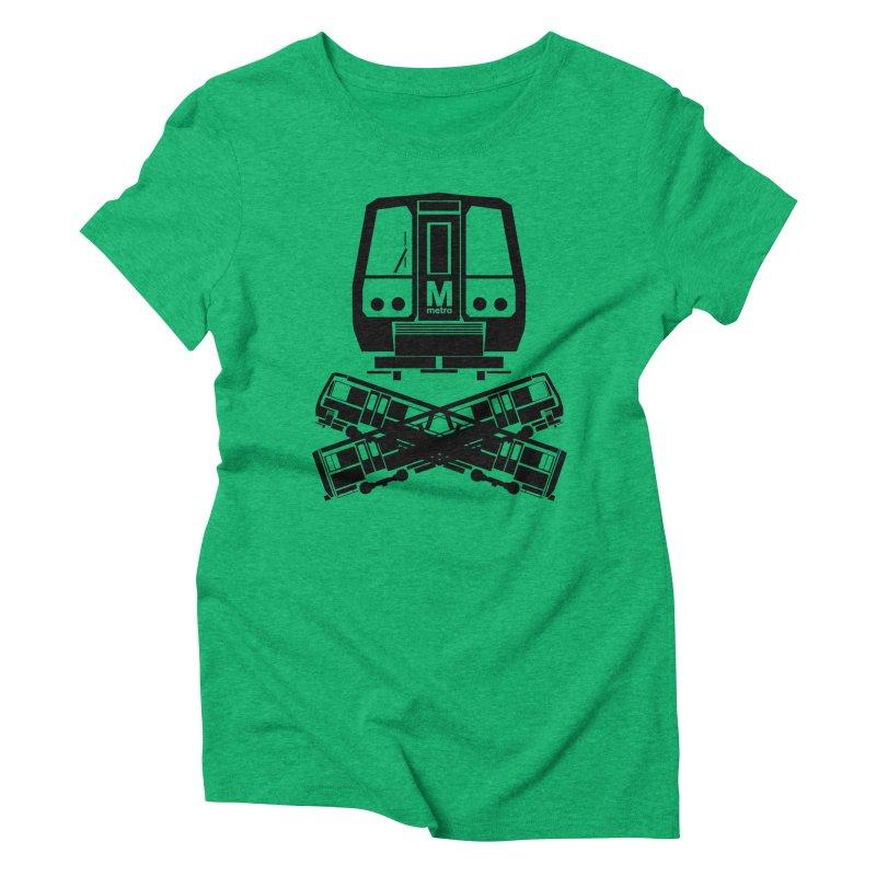 METRO Crossbones Women's Triblend T-shirt by ddesigns by ddespair