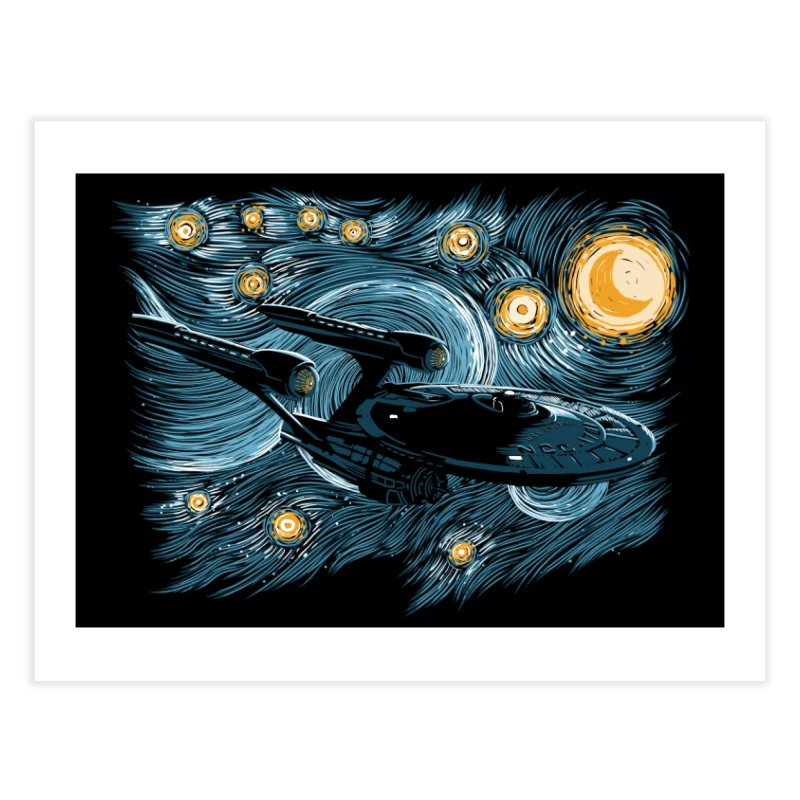 Starry Trek Home Fine Art Print by ddjvigo