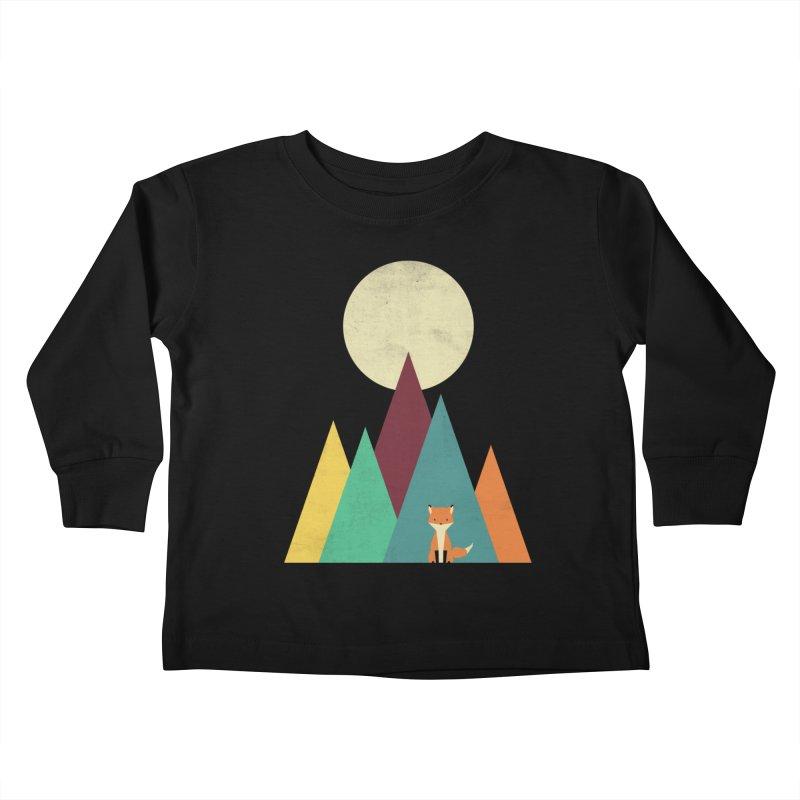 Red fox Kids Toddler Longsleeve T-Shirt by ddjvigo