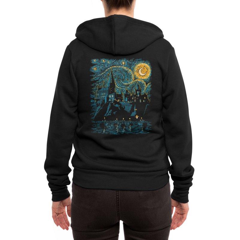 Starry School - Hogwarts Women's Zip-Up Hoody by ddjvigo