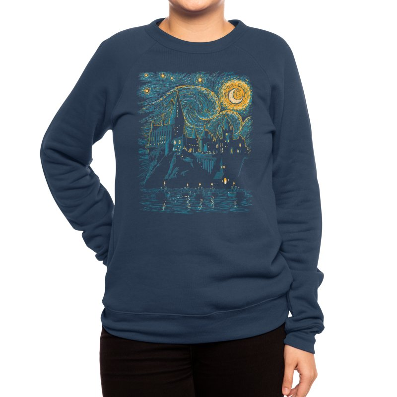 Starry School - Hogwarts Women's Sweatshirt by ddjvigo