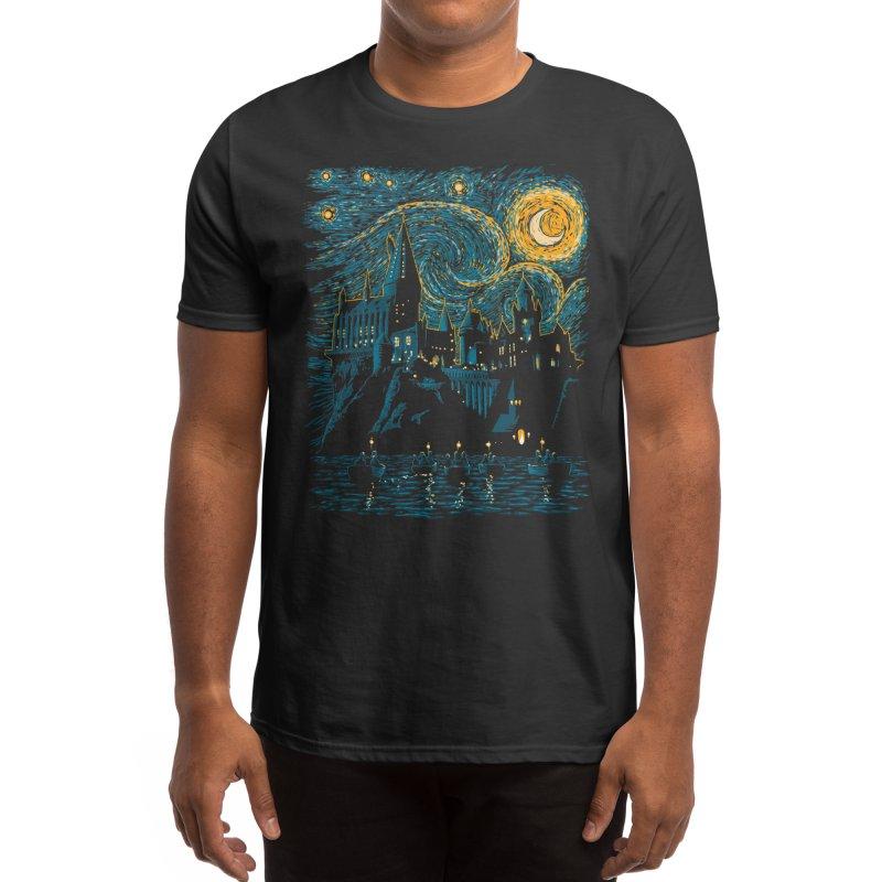 Starry School - Hogwarts Men's T-Shirt by ddjvigo