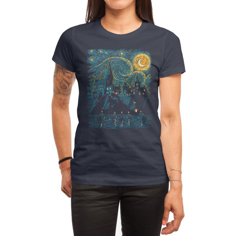 Starry School - Hogwarts Women's T-Shirt by ddjvigo