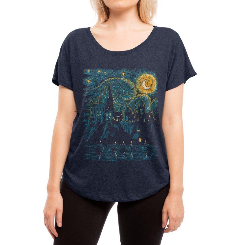 Starry School - Hogwarts Women's Scoop Neck by ddjvigo