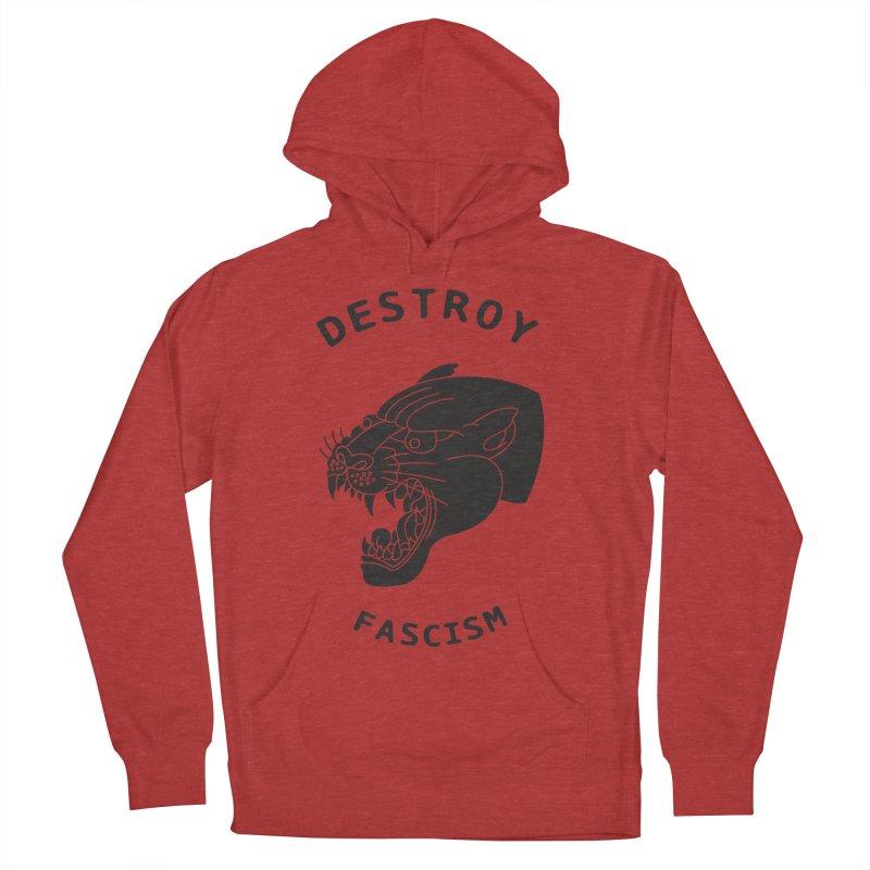 Destroy Fascism Women's French Terry Pullover Hoody by DEADBEAT HERO Artist Shop