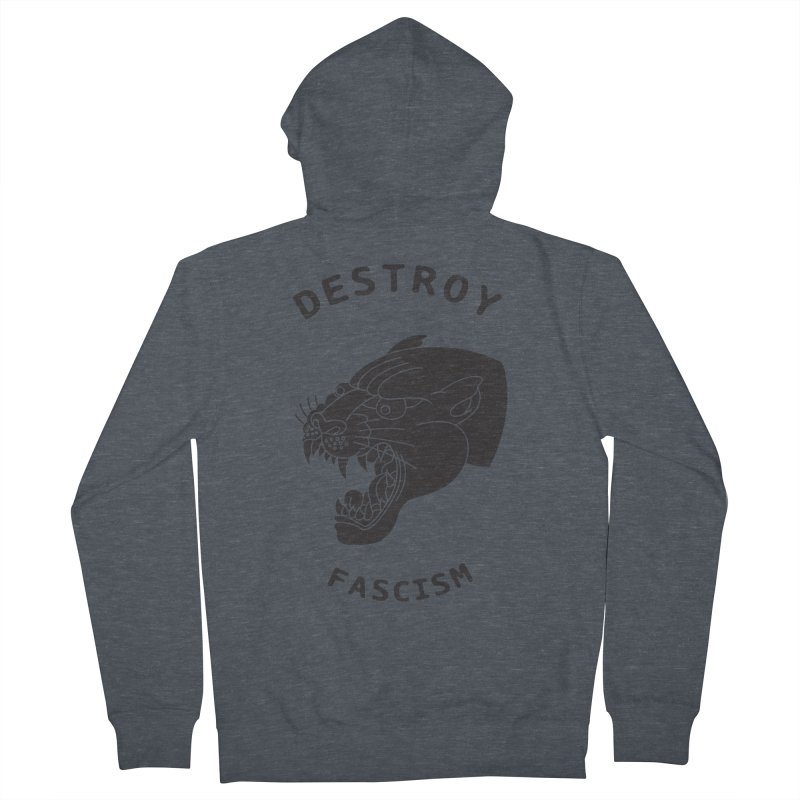 Destroy Fascism Men's Zip-Up Hoody by DEADBEAT HERO Artist Shop