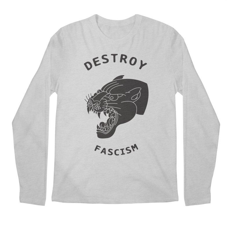 Destroy Fascism Men's Longsleeve T-Shirt by DEADBEAT HERO Artist Shop