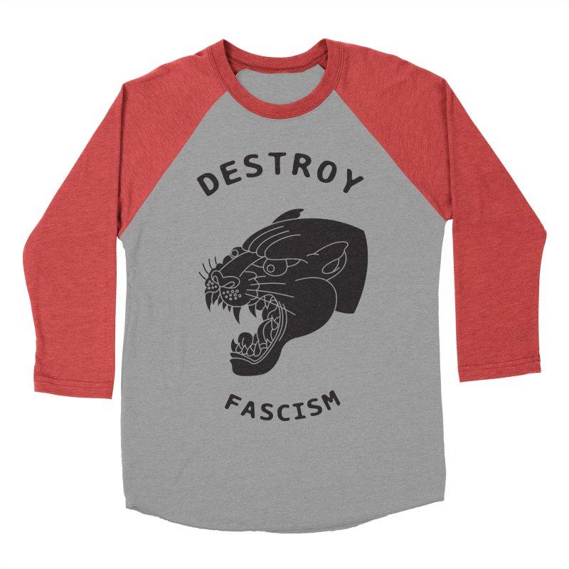 Destroy Fascism Men's Baseball Triblend T-Shirt by DEADBEAT HERO Artist Shop