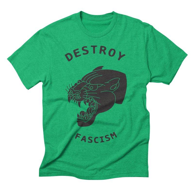 Destroy Fascism Men's Triblend T-shirt by DEADBEAT HERO Artist Shop