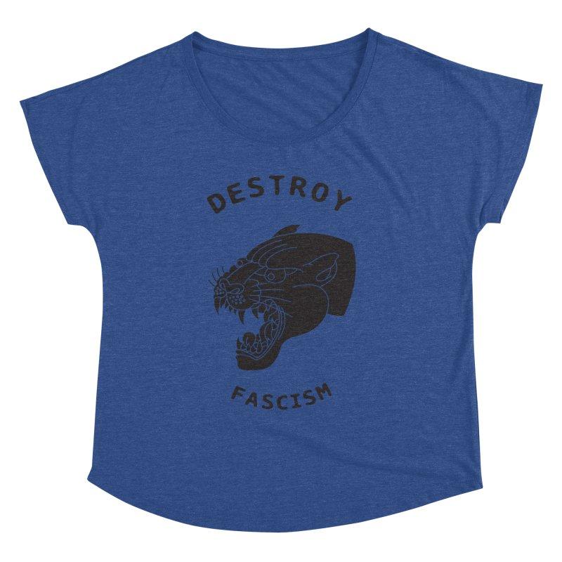 Destroy Fascism Women's Dolman Scoop Neck by DEADBEAT HERO Artist Shop
