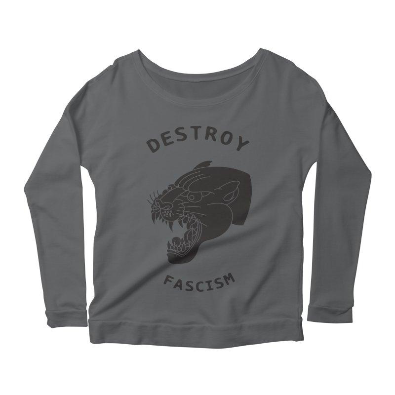 Destroy Fascism Women's Longsleeve Scoopneck  by DEADBEAT HERO Artist Shop