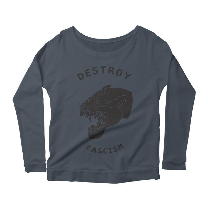 Destroy Fascism Women's Scoop Neck Longsleeve T-Shirt by DEADBEAT HERO Artist Shop