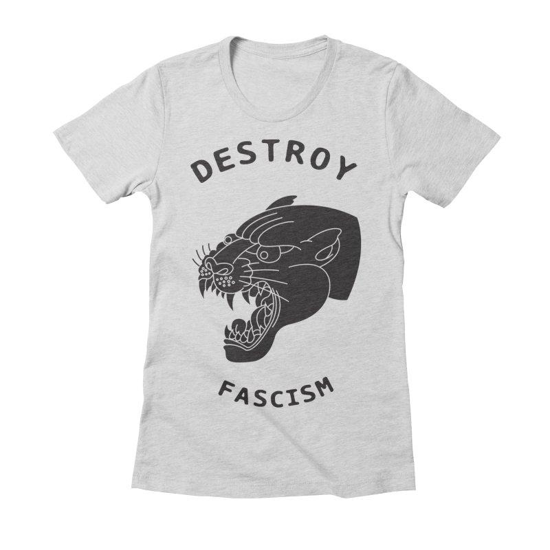 Destroy Fascism Women's Fitted T-Shirt by DEADBEAT HERO Artist Shop
