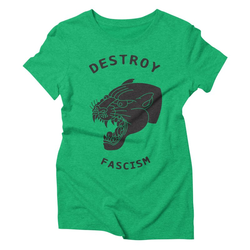 Destroy Fascism Women's Triblend T-Shirt by DEADBEAT HERO Artist Shop
