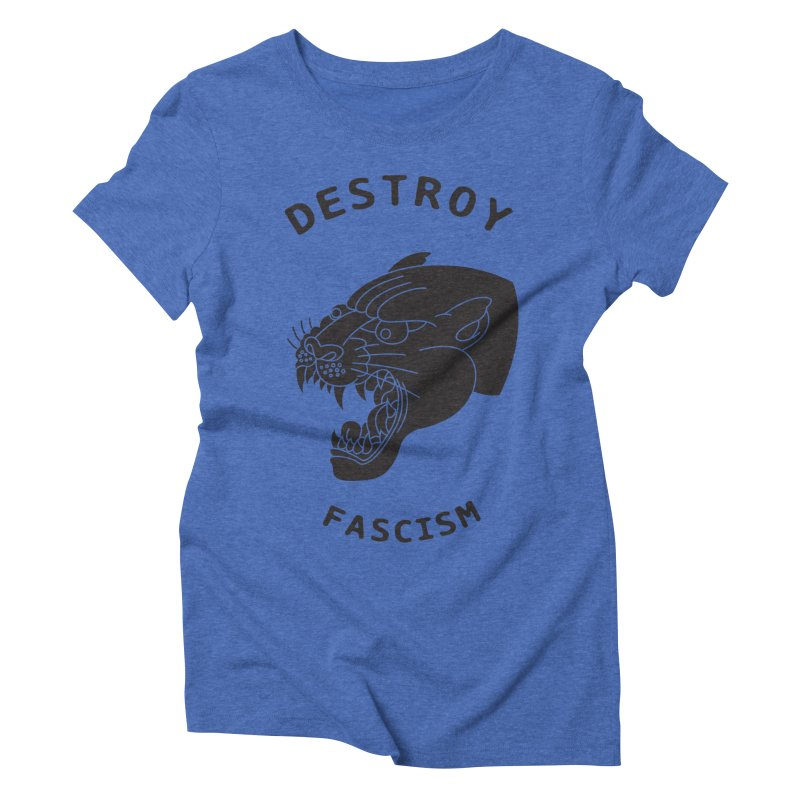 Destroy Fascism Women's Triblend T-shirt by DEADBEAT HERO Artist Shop
