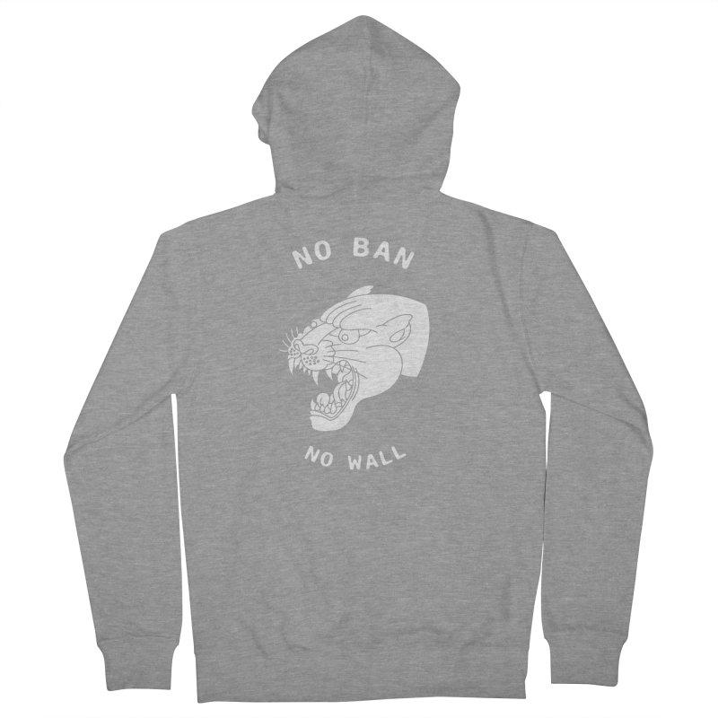 No Ban No Wall Men's Zip-Up Hoody by DEADBEAT HERO Artist Shop