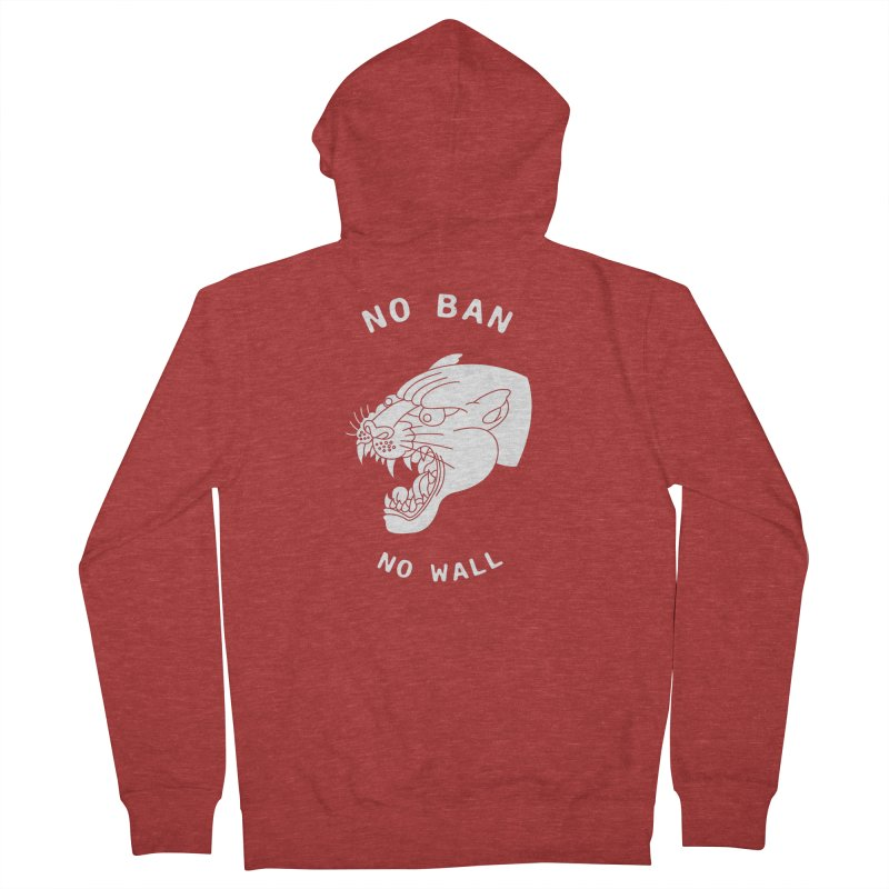 No Ban No Wall Men's Zip-Up Hoody by DEADBEAT HERO Artist Shop