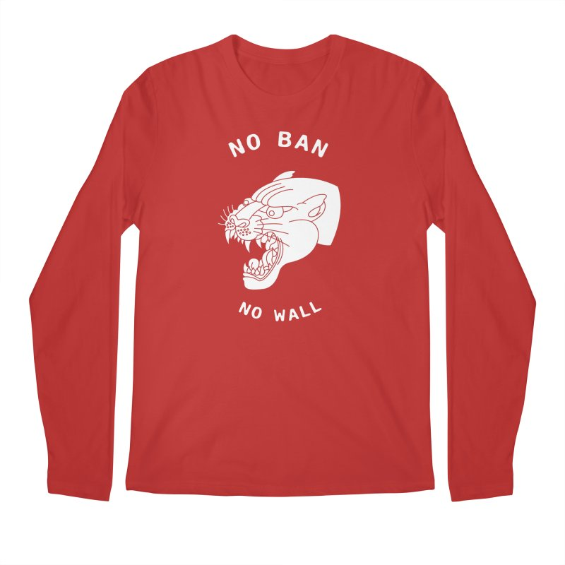 No Ban No Wall Men's Longsleeve T-Shirt by DEADBEAT HERO Artist Shop